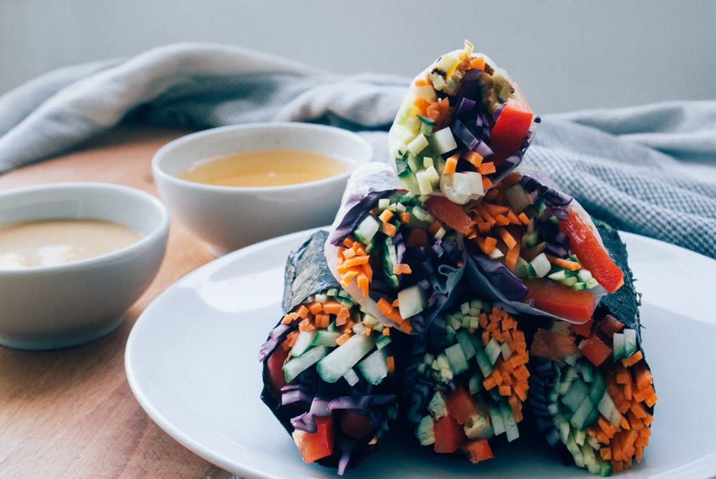 Raw Nori & Summer Rolls | Vegan | Rezept | Food | ivy.li