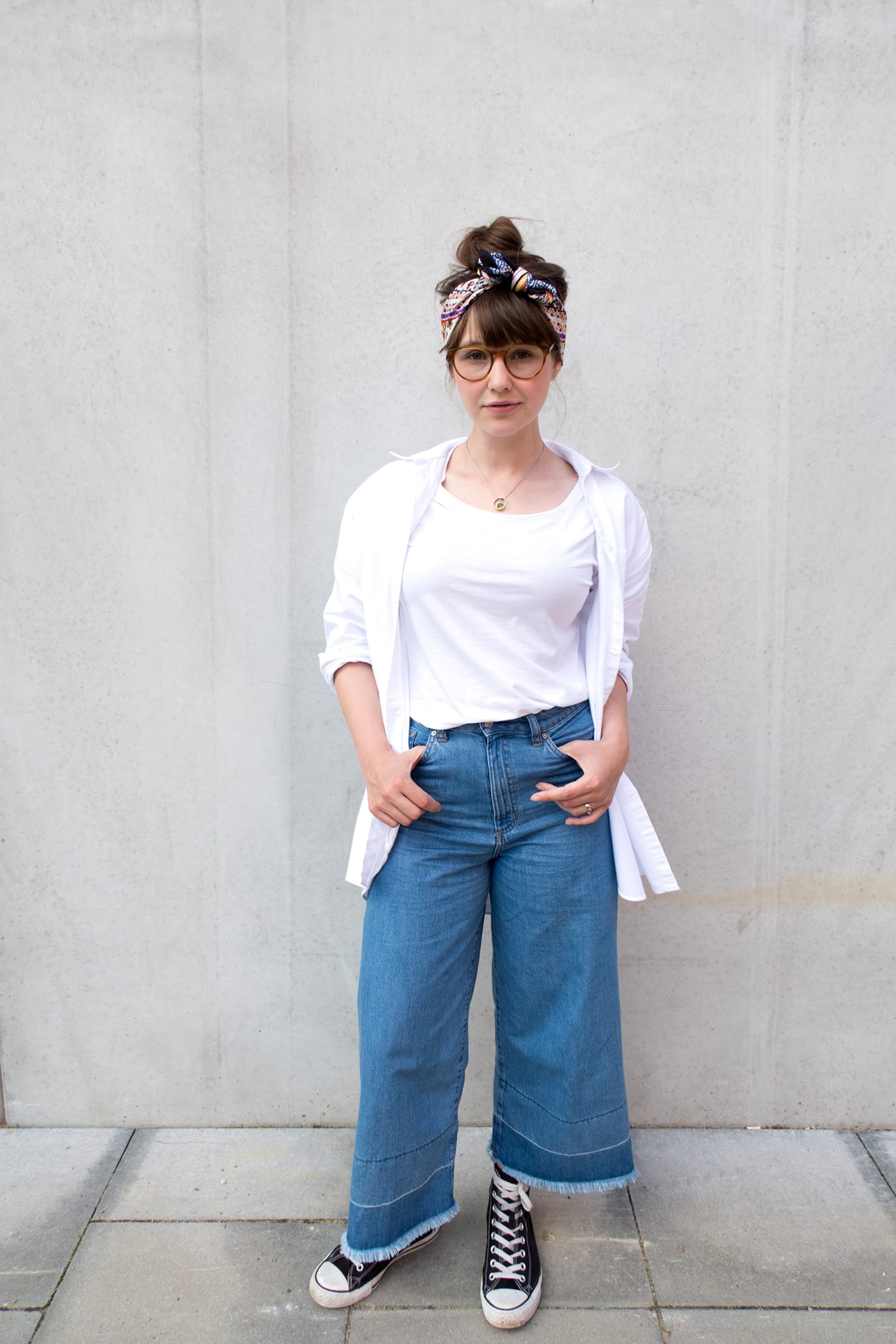 #momstyle | Bad Hair Day | Bandana | Jeans Culotte| ivy.li