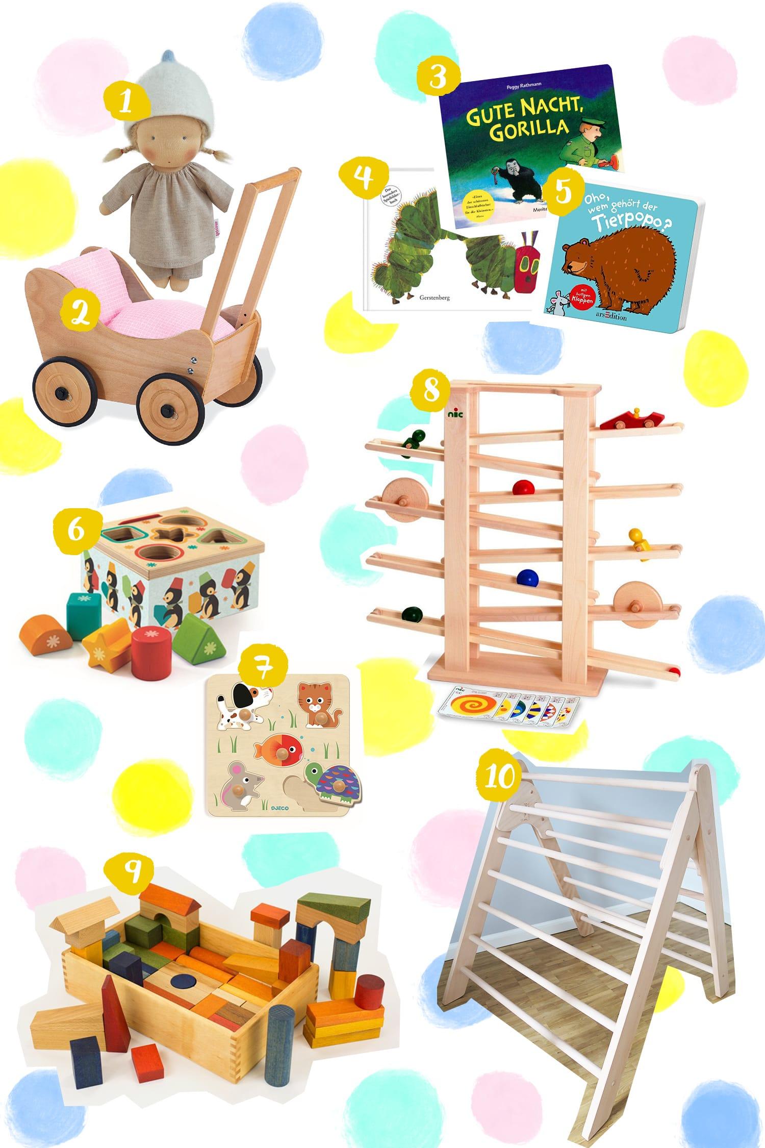 Geschenke zum 1. Geburtstag | Sinnvolle Spielsachen für Baby und Kleinkind | Motorik | ivy.li