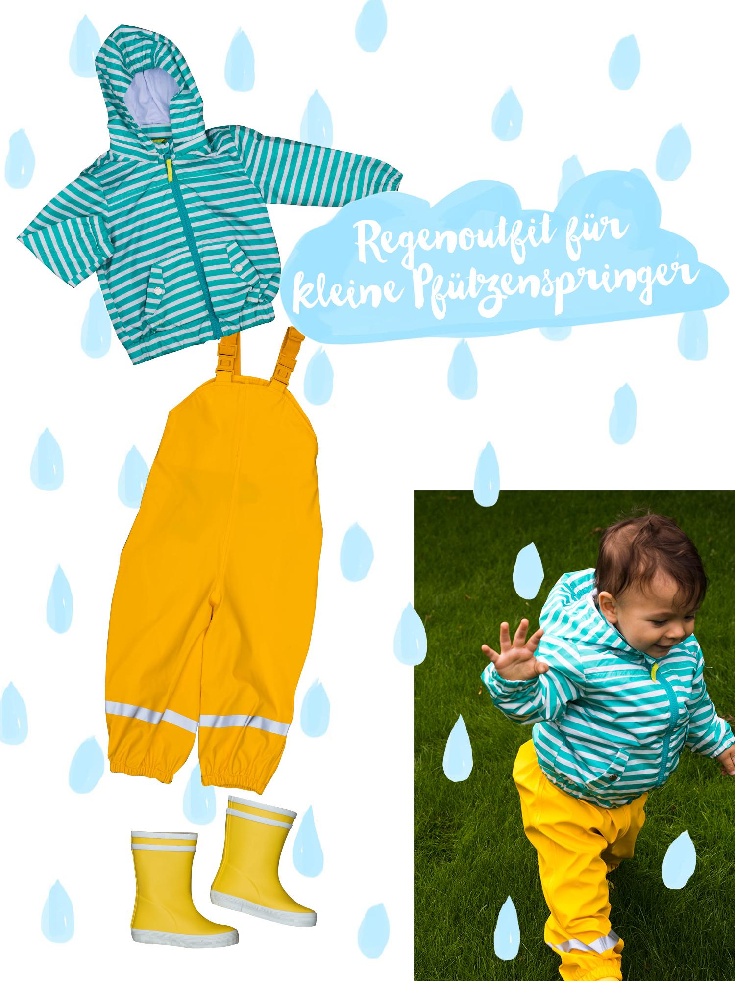 Regenoutfit für unter 50 € | Regenkleidung für Kleinkinder | Matschhose | Gummistiefel | Regenjacke