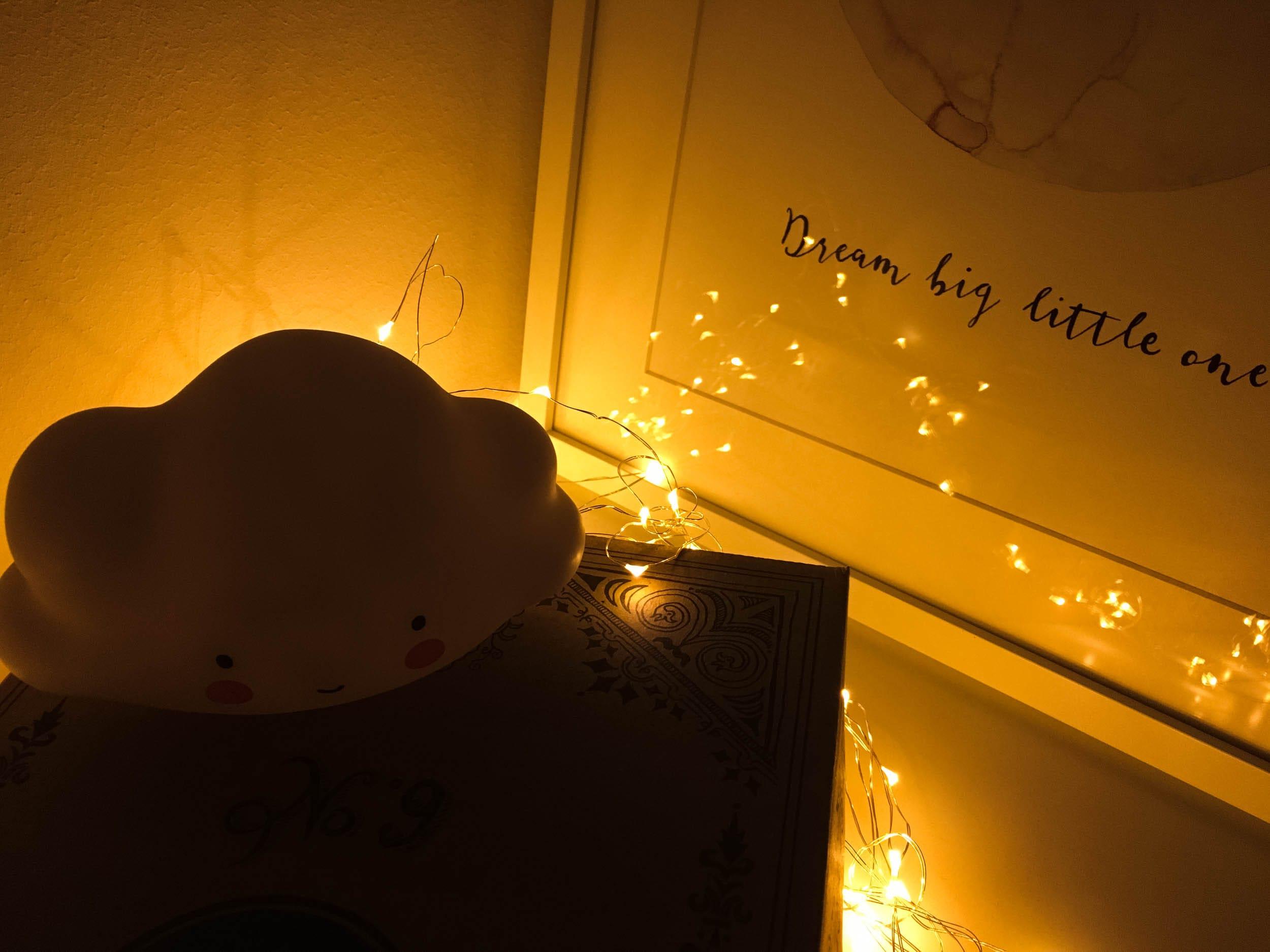Nachtlicht | Wolke | Kinderzimmer | Lichterkette | ivy.li