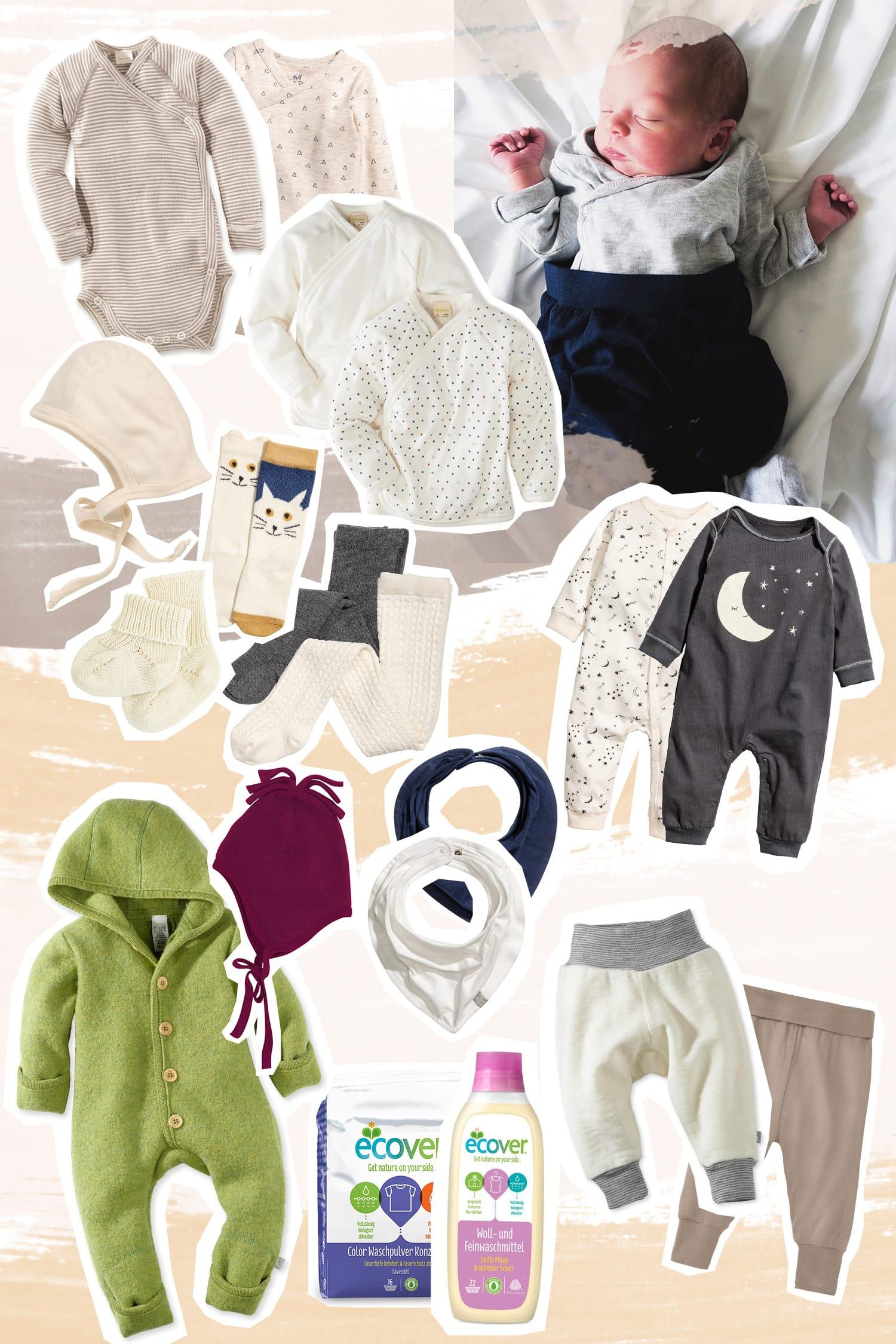 Erstausstattung | Baby Kleidung | Wolle, Seide, Baumwolle | Waschmittel | Wickelbody | Wollwalk | ivy.li