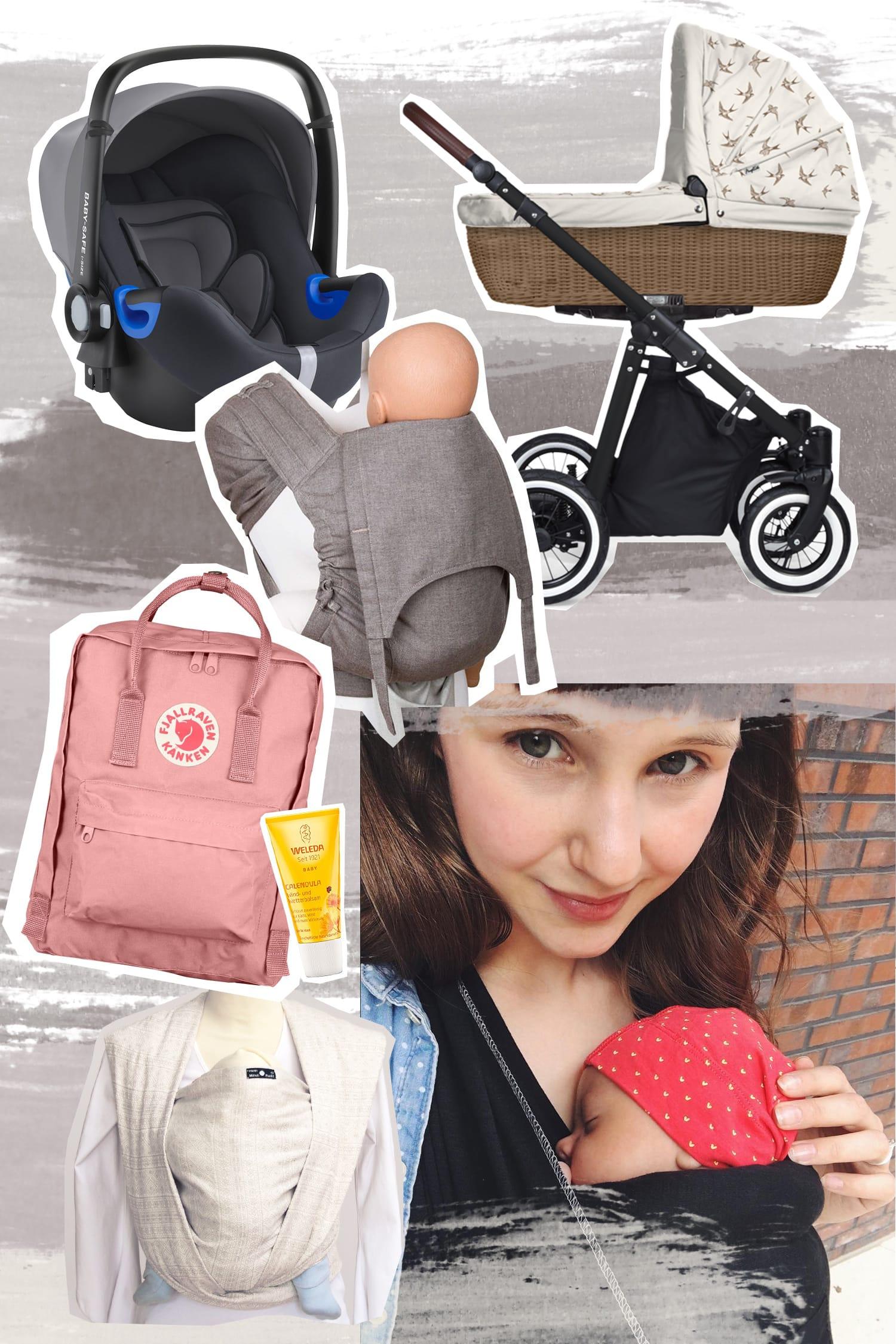 Erstausstattung für Unterwegs | Baby | Babyschale | Kinderwagen | Tragetuch | Wickelrucksack | ivy.li