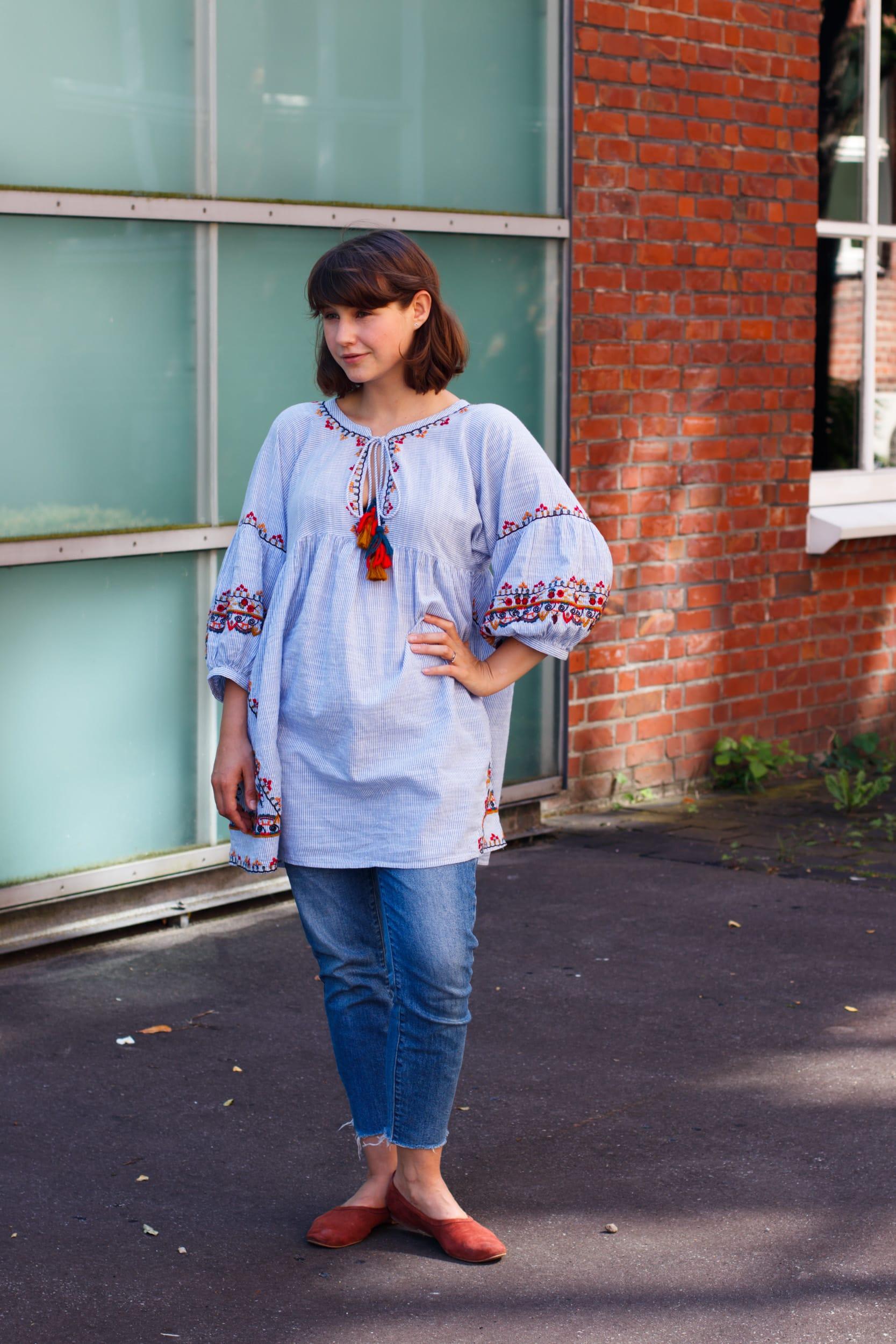 Momstyle | Outfit | Tunika Kleid über Jeans | ivy.li