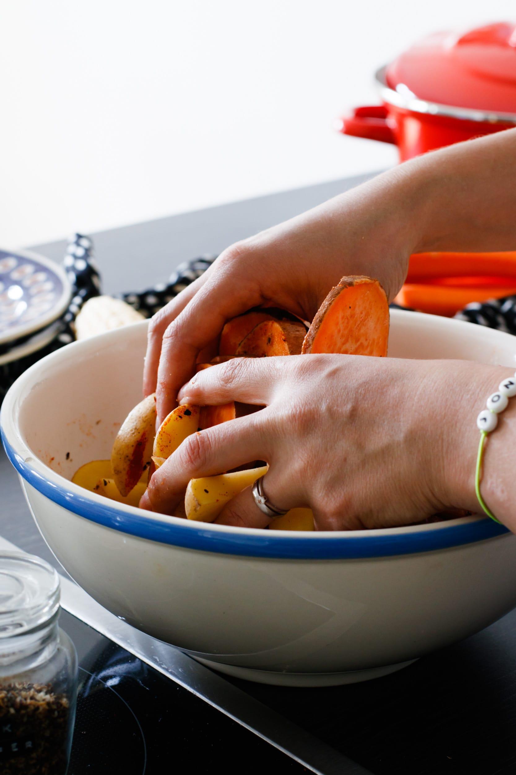 Ofengemüse mit Kräuterquark | ivy.li
