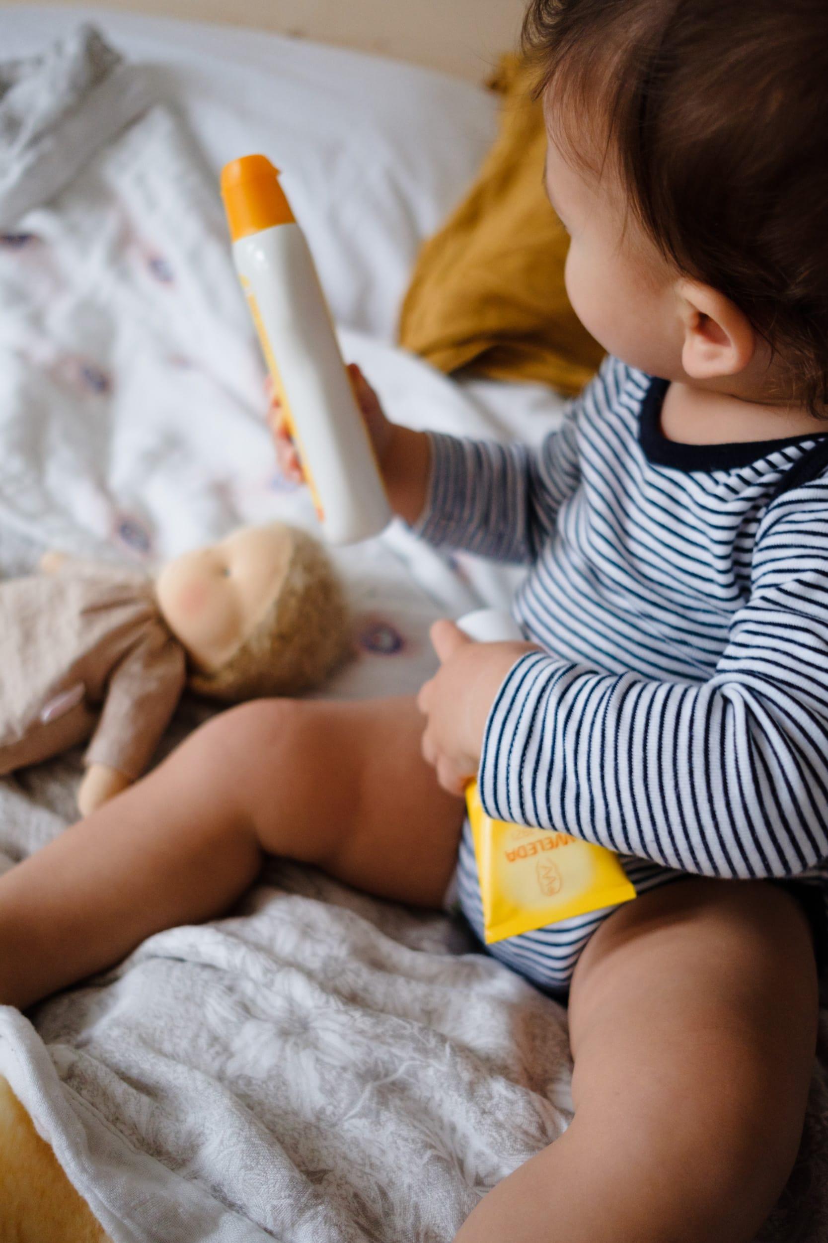 Achtsame Körperpflege | Weleda Calendula Baby Pflegecreme und Pflegeöl | ivy.li