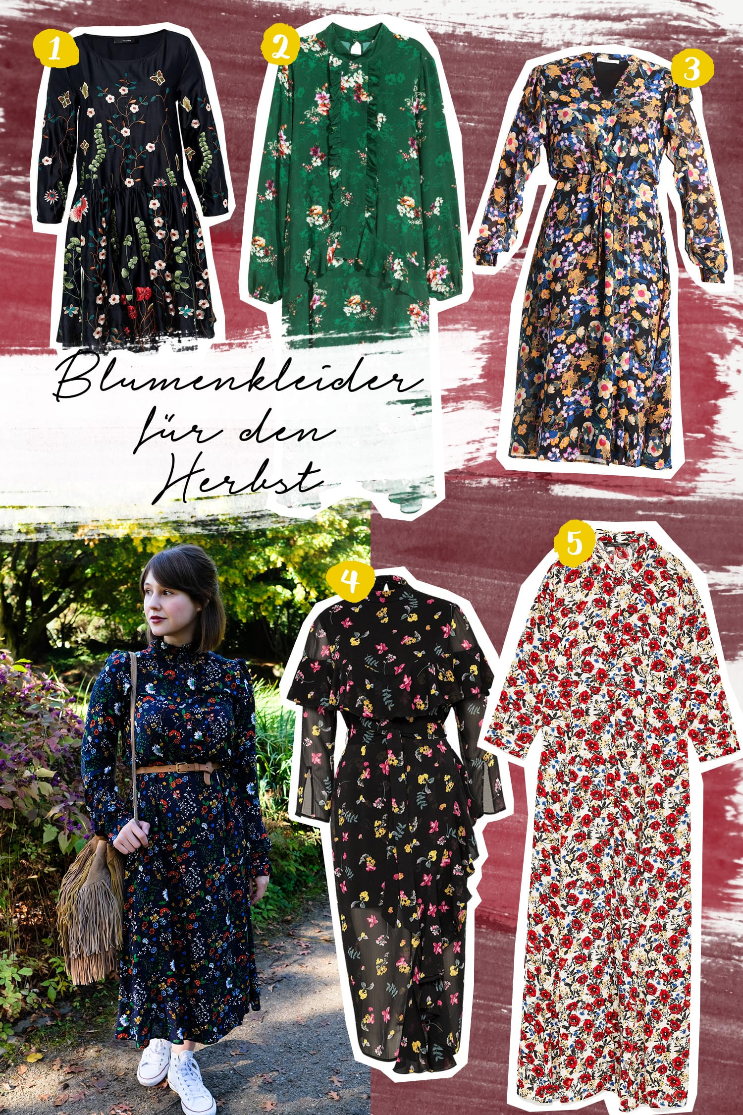 Die schönsten Blümchenkleider für den Herbst | Momstyle | Wishlist | Wunschliste | Floral dresses | ivy.li