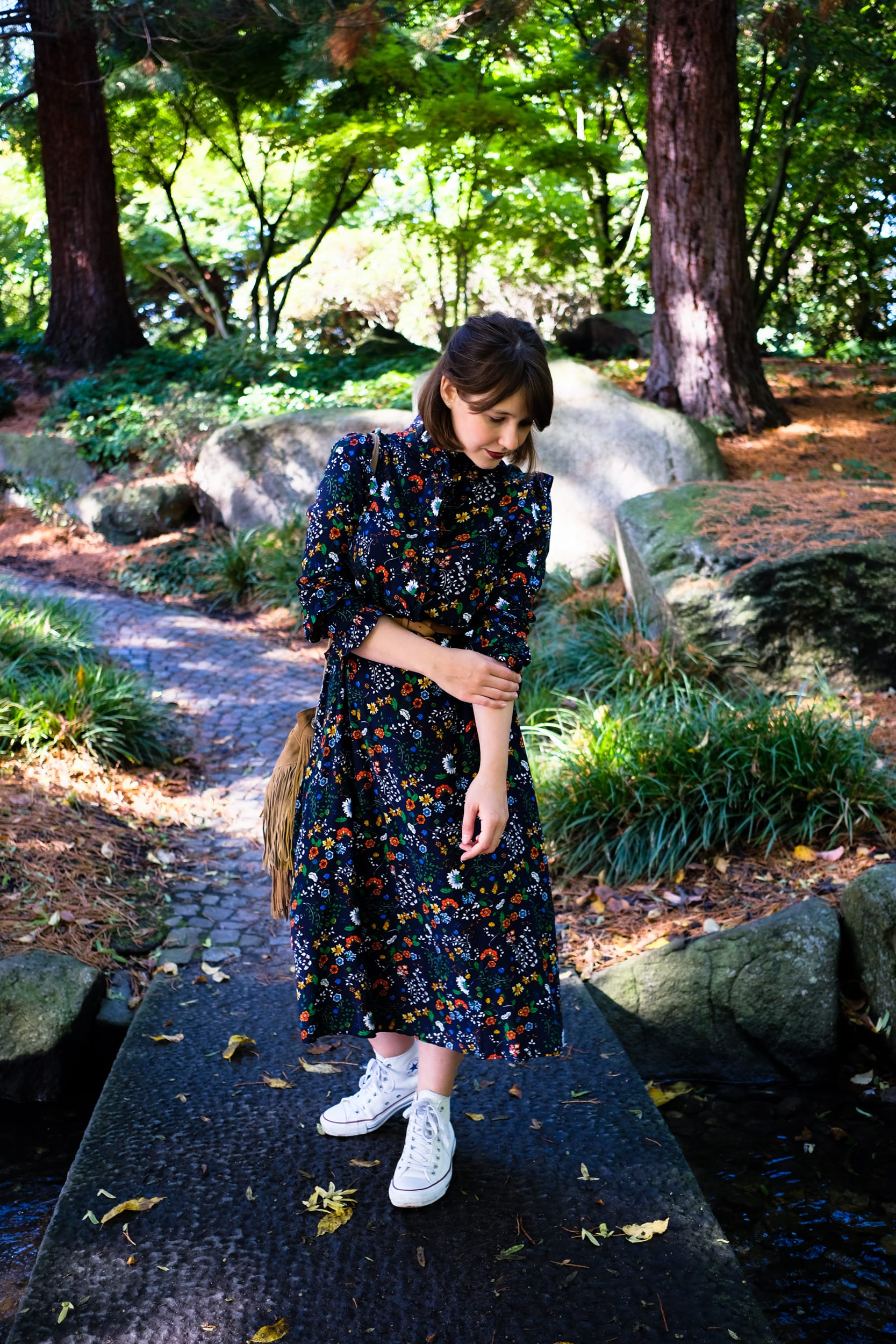 Ein Sonntag auf dem Spielplatz im Blümchenkleid |  Momstyle | Outfit | Floral dress | ivy.li