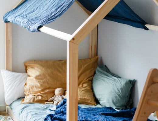 Floor Bed nach Maria Montessori | Das Hausbett im Kinderzimmer | Bodenbett statt Gitterbett | ivy.li