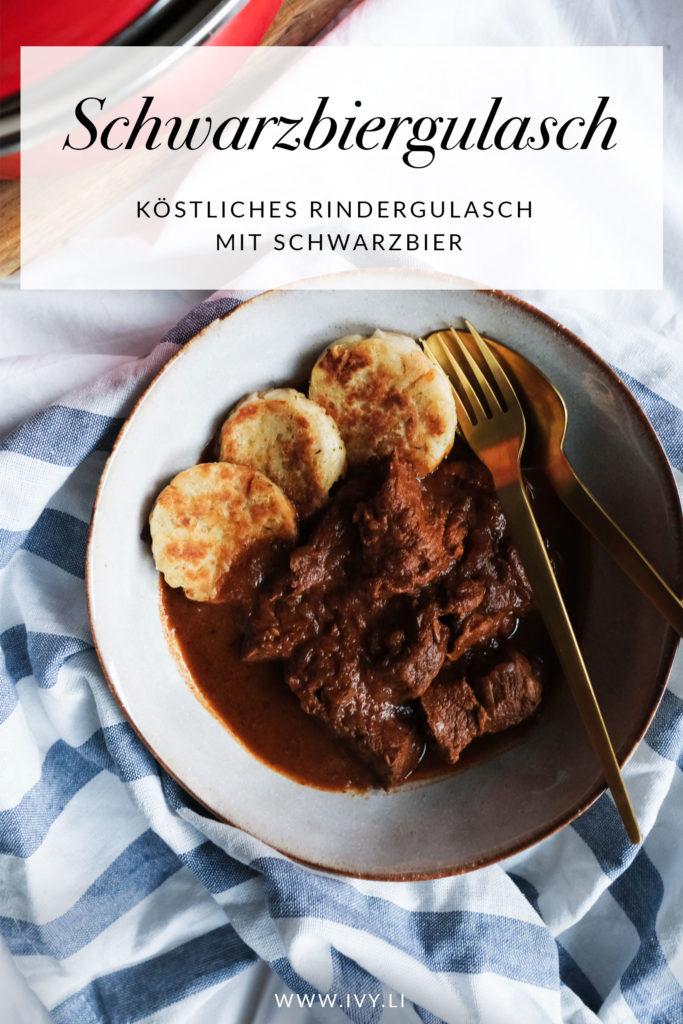 Schwarzbiergulasch | Gulasch mit Schwarzbier | Comfort Food | Herbstrezepte | Schmorgericht | Rindfleisch | Kochen mit Bier | Wintergerichte | Rezept | #rezept #gulasch #kochen #herbst | Rezept auf ivy.li
