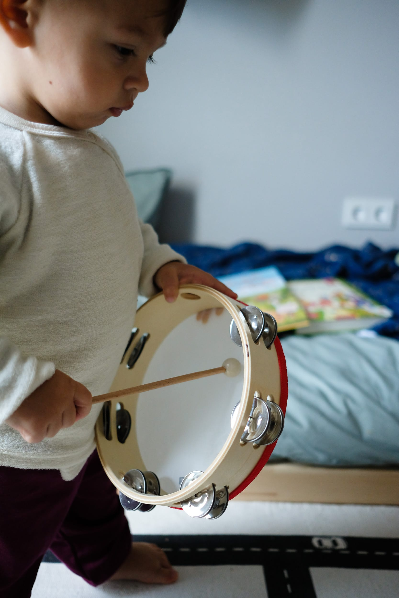 Musikinstrumente für Kleinkinder | Zuhause musizieren mit Kleinkindern und Babys | Tamburin | Trommel | ivy.li