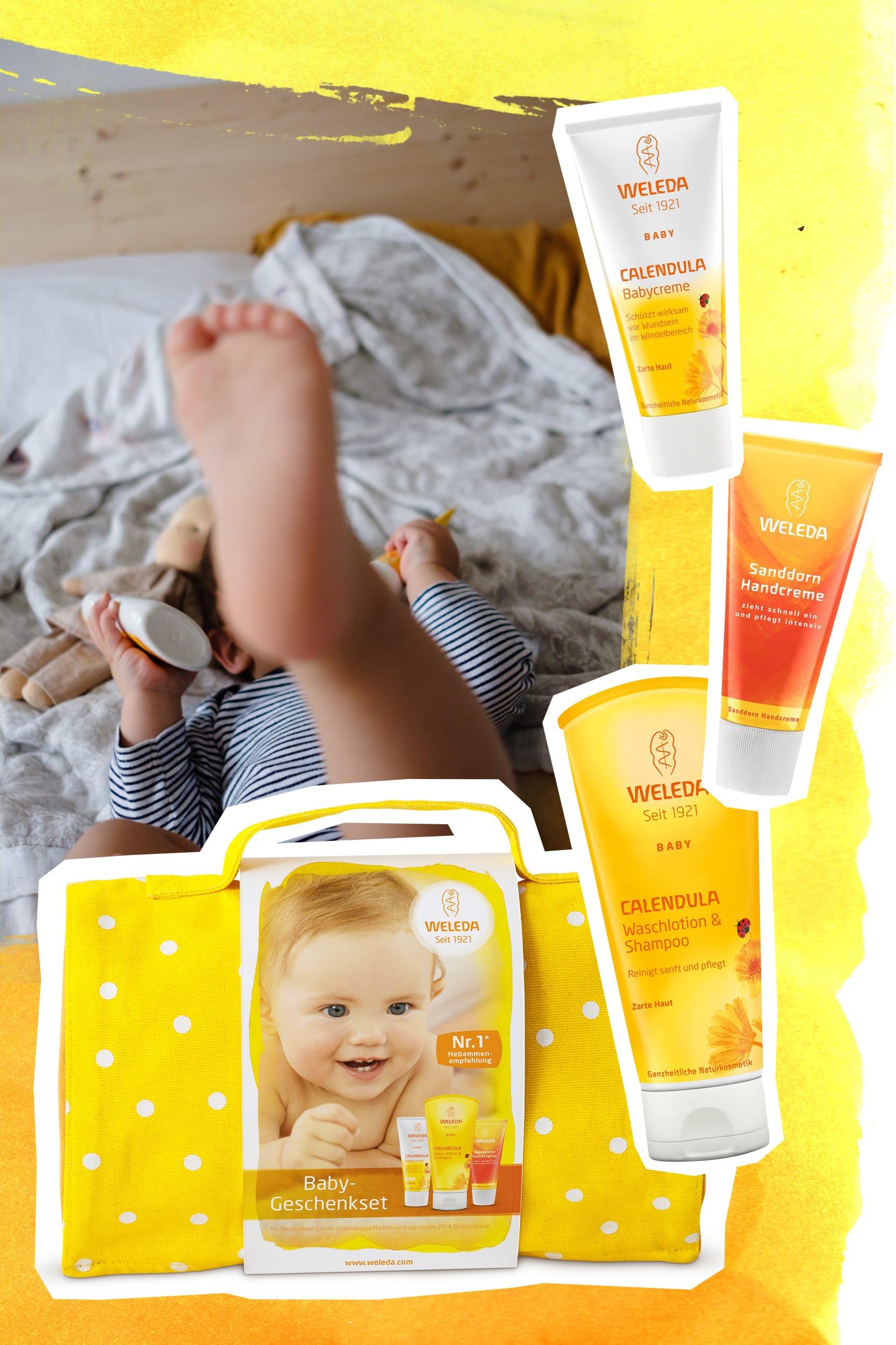 Achtsame Körperpflege | Weleda Calendula Baby Geschenkset | ivy.li