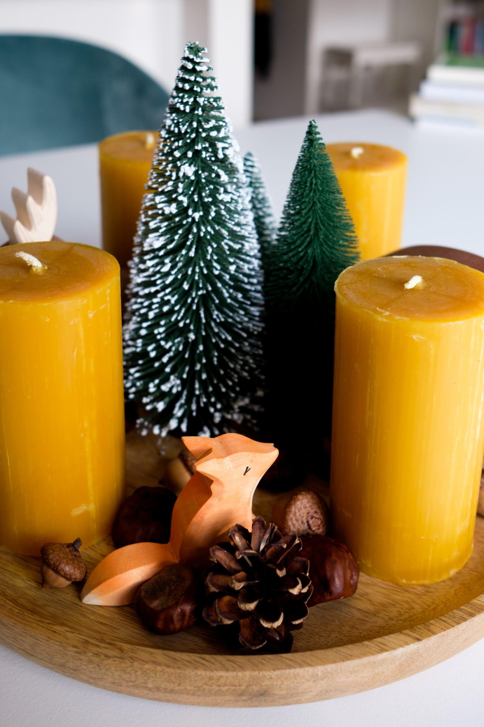 DIY | Adventskranz mit Ostheimer Waldtieren & Bienenwachskerzen | Der Notfall-Adventskranz für alle Vergesslichen und Erkältungsopfer | ivy.li