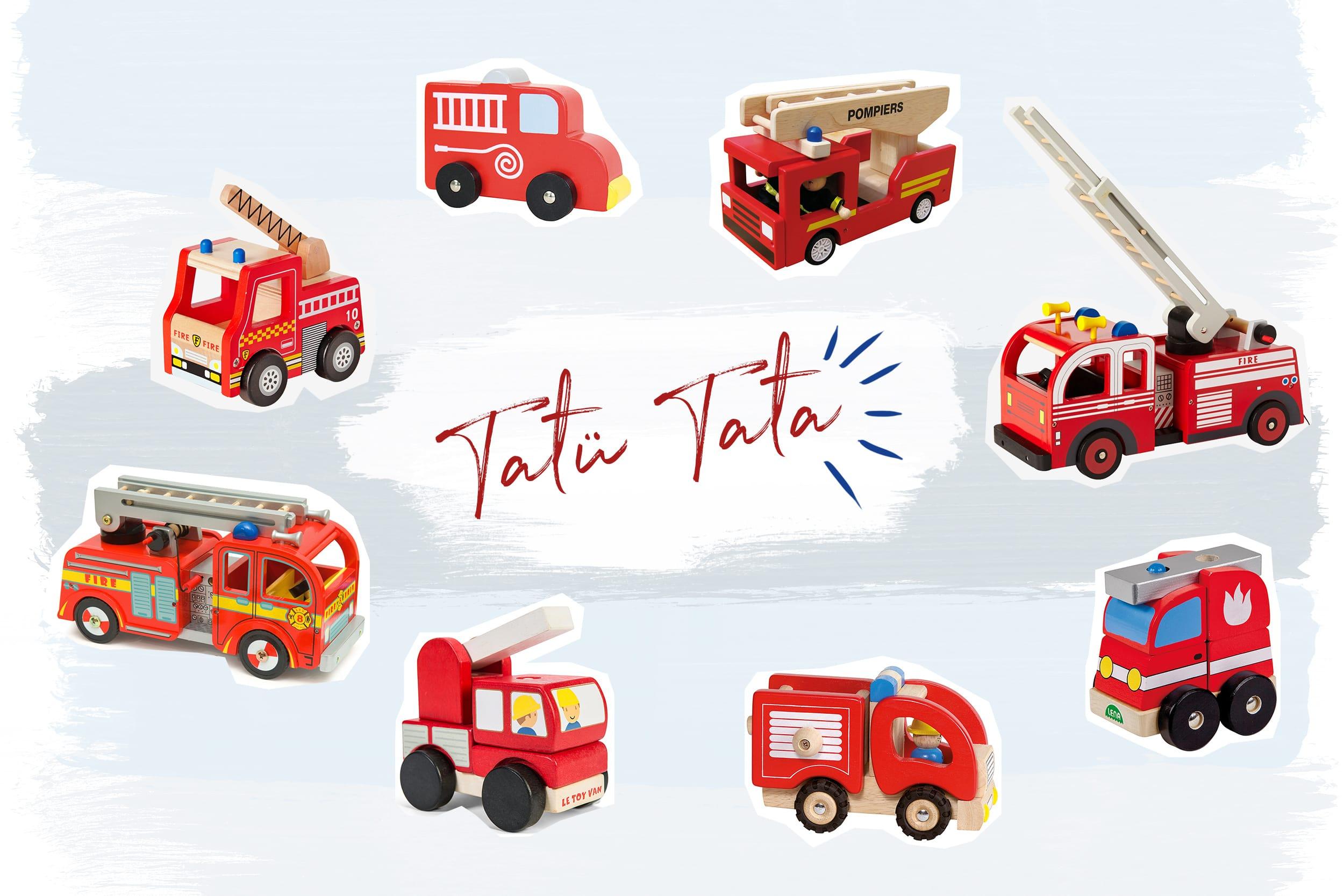 Die schönsten Feuerwehrautos aus Holz für Kleinkinder | Feuerwehrfahrzeuge als Geschenkidee für Kinder zwischen 1 und 3 Jahren