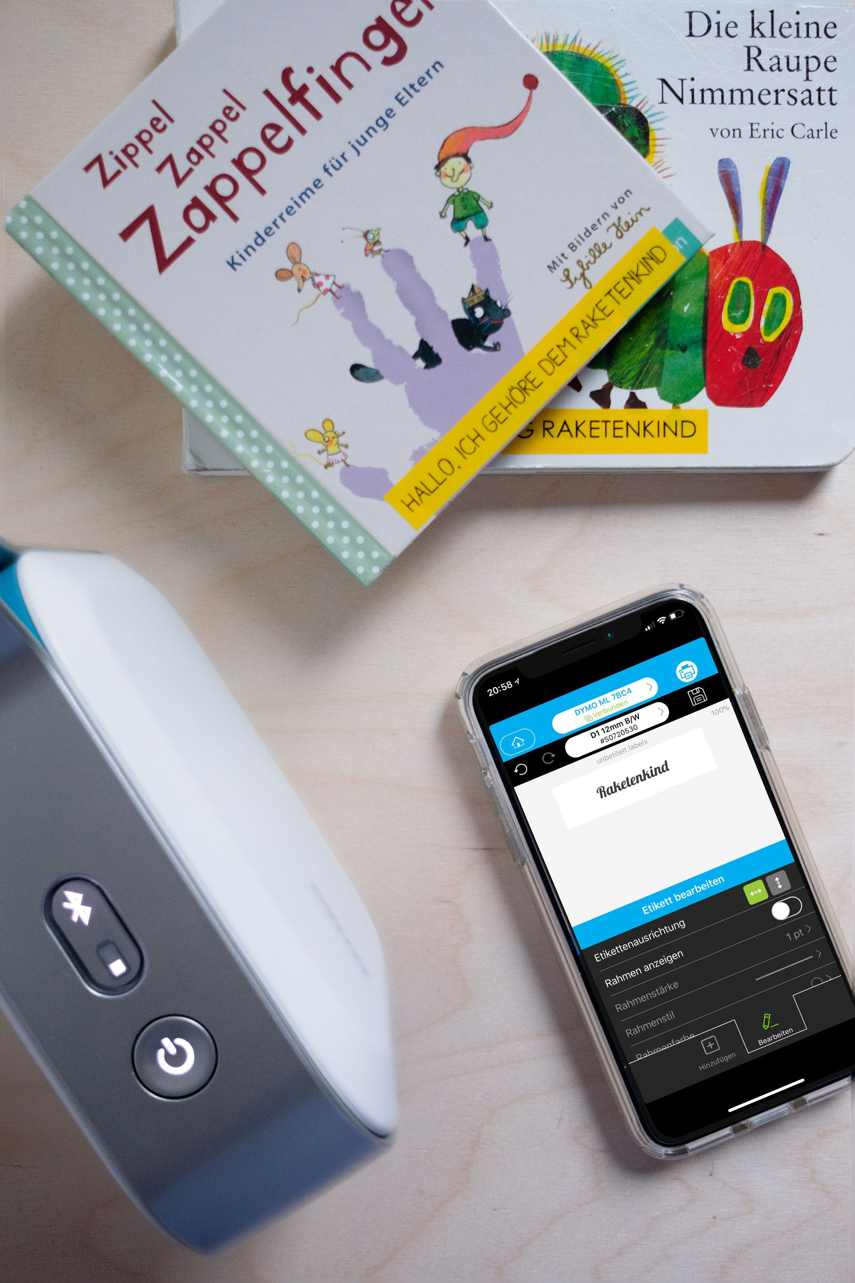 Namensetiketten für die KiTa mit DYMO | Mit dem DYMO MobileLabeler für Ordnung sorgen | ivy.li