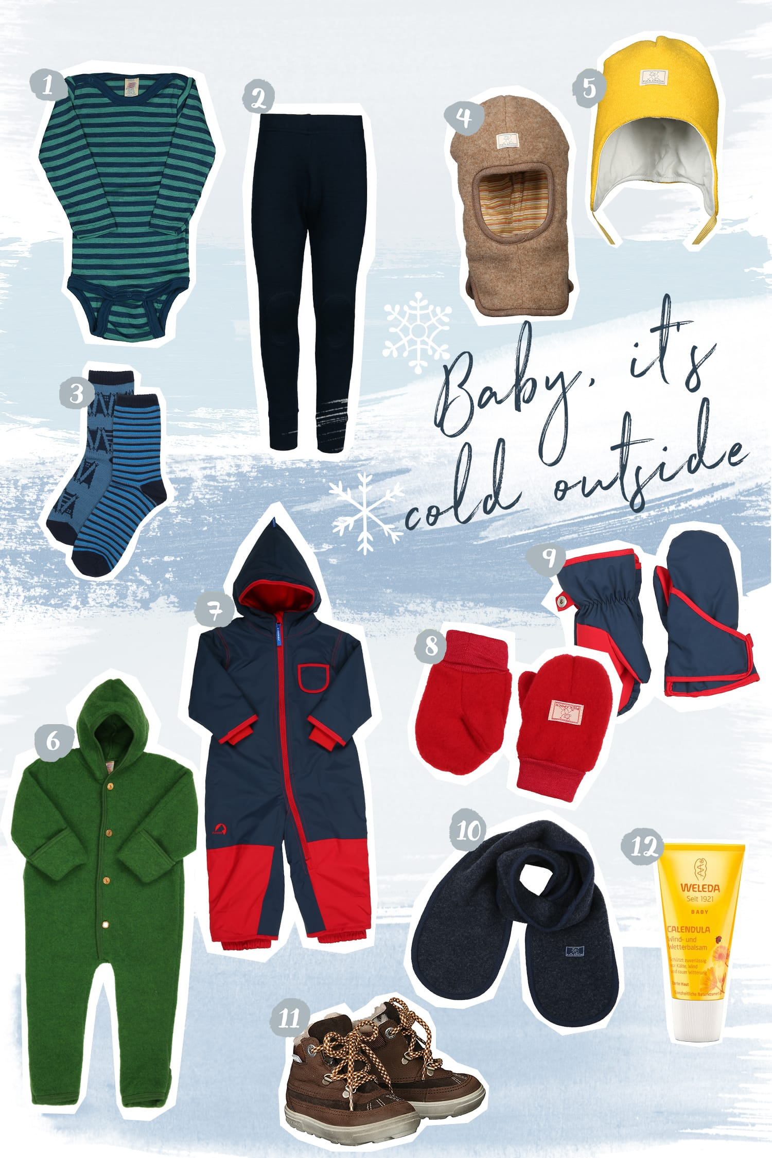 Was ziehe ich meinem Kleinkind im Winter an? | Kleine Kinder im Winter richtig anziehen | Winter Essentials | Baby | Kleinkind | Winterkleidung | Schneeanzug | Wollwalk | Wollfleece | Walkoverall | Wolle & Seide | Wollsocken | Fäustlinge | Handschuhe | Wollmütze | Warme Kleidung | ivy.li