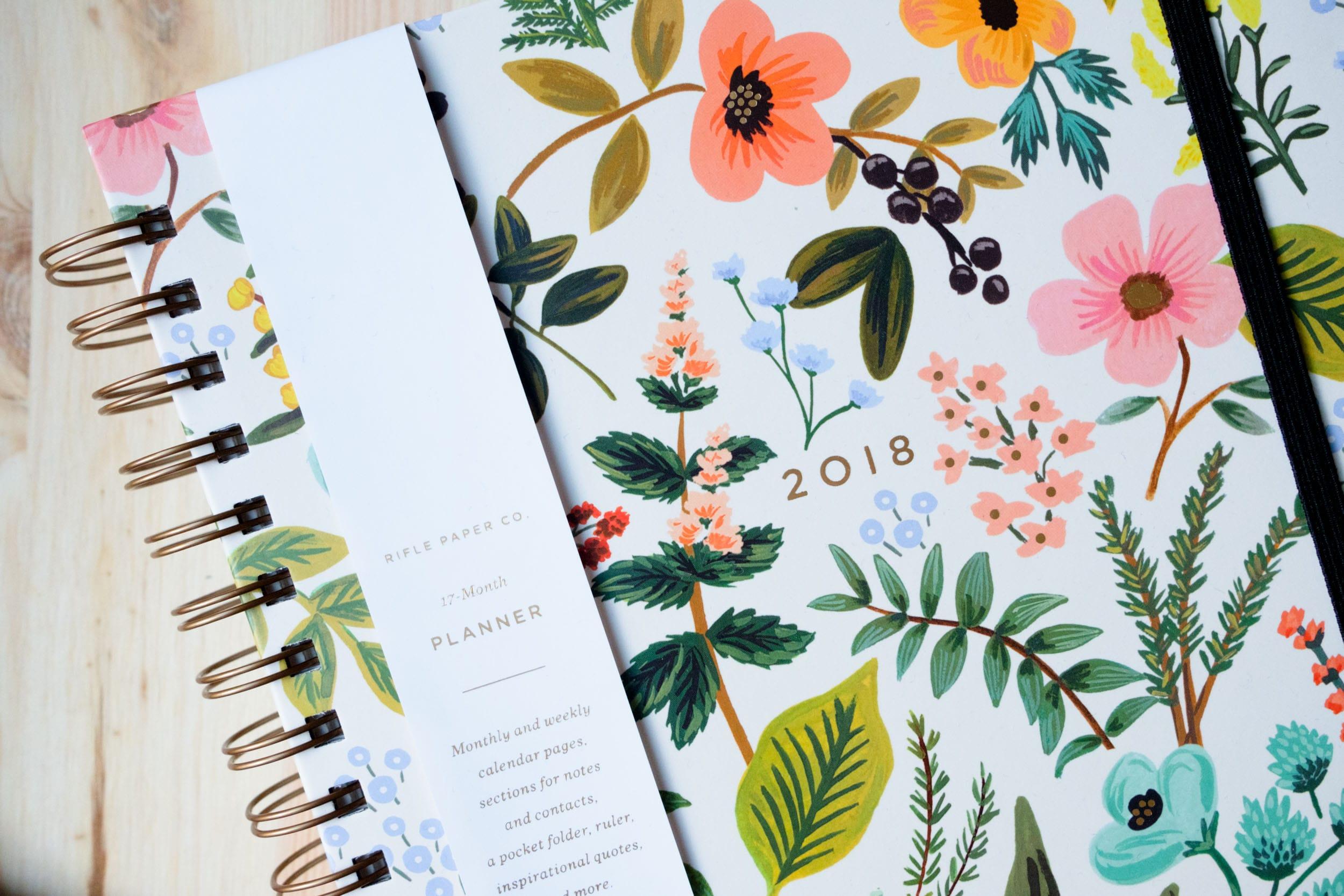 Meine Lieblinge im neuen Jahr | Schöne Dinge im Dezember und Januar | Rifle Paper Co. Stationary Terminplaner 2018 | Mehr auf ivy.li