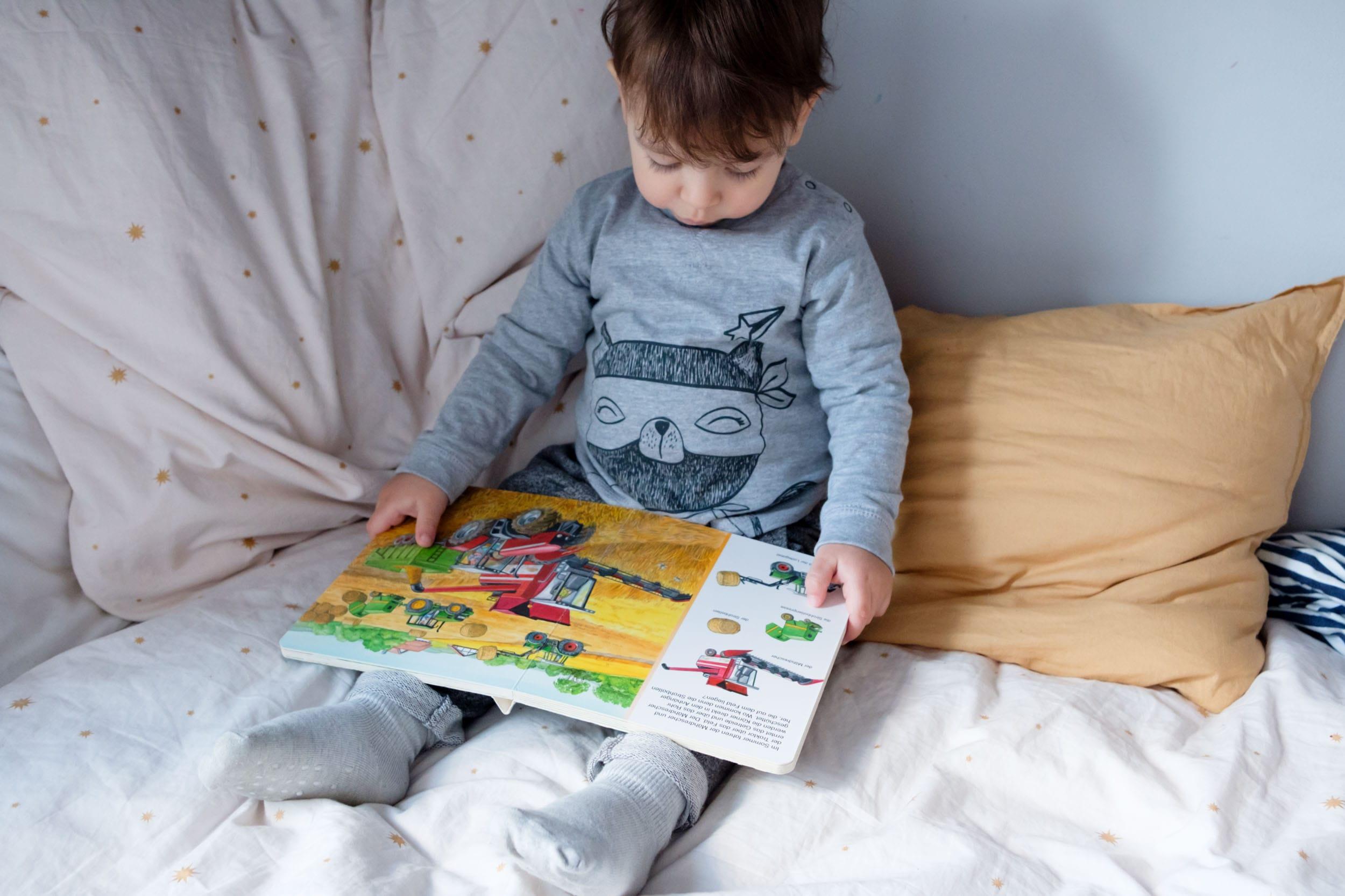 Schietwettertage mit Kind | 3 Tipps für Indoor-Spaß mit TK Maxx | Zuhause mit Kleinkind | Bücher lesen | Bilderbücher | Bauernhof | Mehr auf https://ivy.li