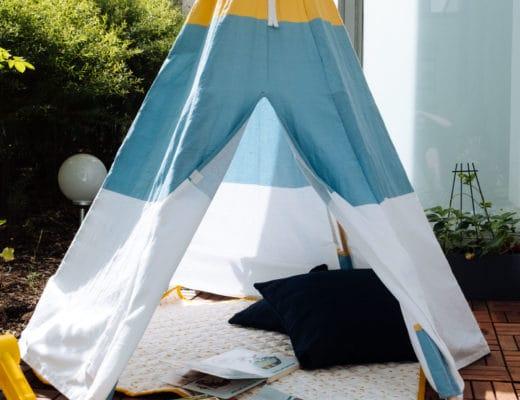 Ein kleines Kinderzimmer unter blauem Himmel | Draußen spielt es sich am schönsten | Schöne Kinderzimmermöbel und Accessoires von Aldi Nord