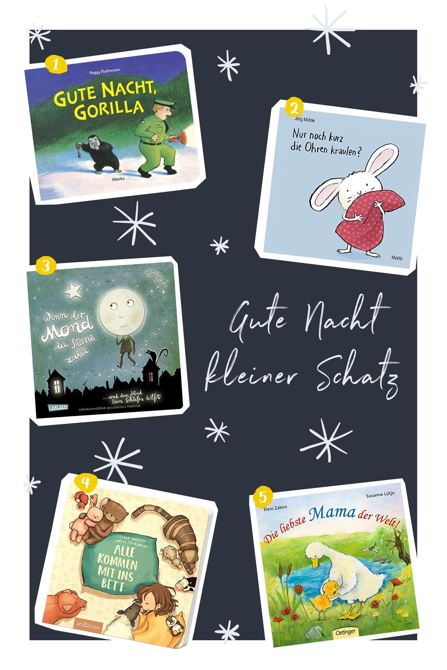 Gute Nacht Bücher für Kleinkinder | Unsere Lieblingsbücher zum Einschlafen für 1 bis 2-jährige Kinder